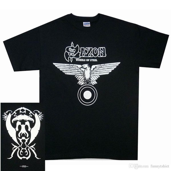 Saxon Wheels Of Steel Shirt S M L XL Officl T-Shirt Metal Band Tshirt NWOBHM NewHigh Quality Casual Clothing