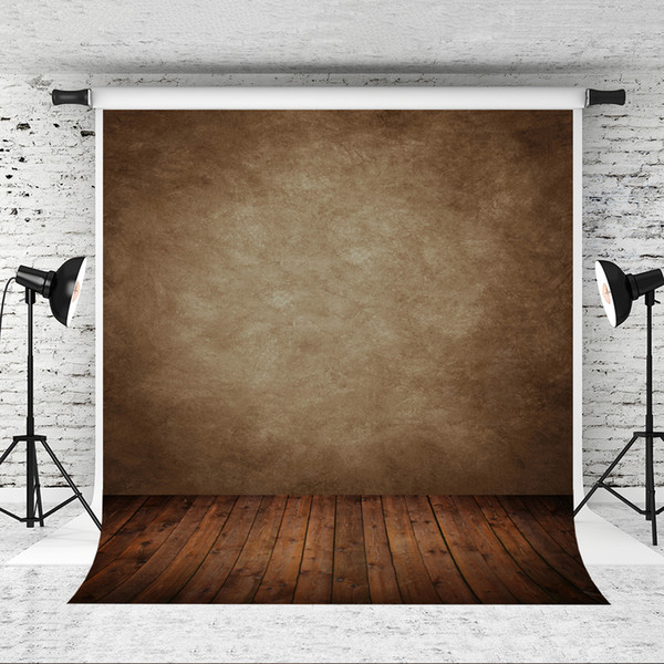 Dream 5x7ft Abstract Brown Vinyl Photography Backdrop Solid Retro Photo Background Wood Texture Floor Backdrop for Photographer Studio Prop