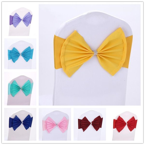 Pleasant Elasitc Chair Sashes Ties Stretch For Weddings Ideas With Buckle Chairs Cover Bowknot Party Banquet Decoration Bands Accessories Inexpensive Chair Ibusinesslaw Wood Chair Design Ideas Ibusinesslaworg