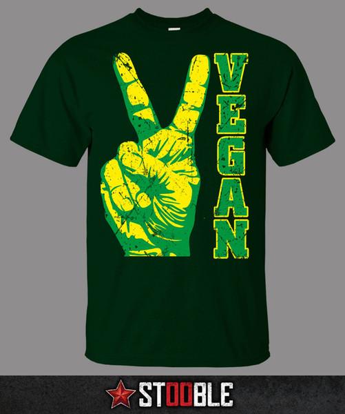 Friedensveganes T-Shirt - Direkt vom Fachhändler Neue T-Shirts Lustiges Oberteil T-Stück Neues Unisex Lustiges Oberteile Mode-Sommer Paried T-Shirts