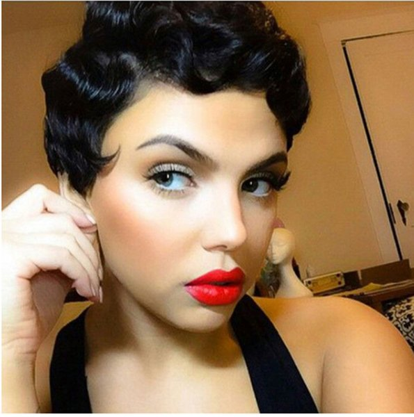 Curly Wig Short Blonde Wigs Finger Waves Wig Synthetic Hair For African American Women Cosplay Wig Heat Resistat Lace Front Wigs For Sale Synthetic