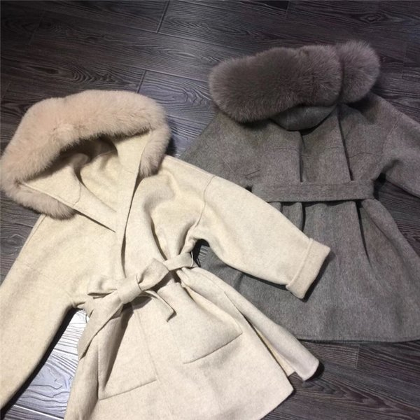 2018 sneakers quite nice outlet store sale 2019 Cashmere Jacket Women Ladies Hand Made Women Fox Fur Collar ...