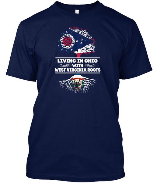 Batı Virginia Roots S ile Ohio - Popüler Etiketsiz Tee T-Shirt Yaşam