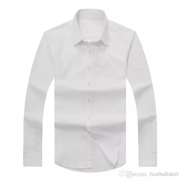 O transporte da gota 2019 dos homens de outono longas mangas de Slim Fit Vestido Sólidos Shirts Men EUA RL Marca camisas pólo Moda Oxford shirt Homem Casual