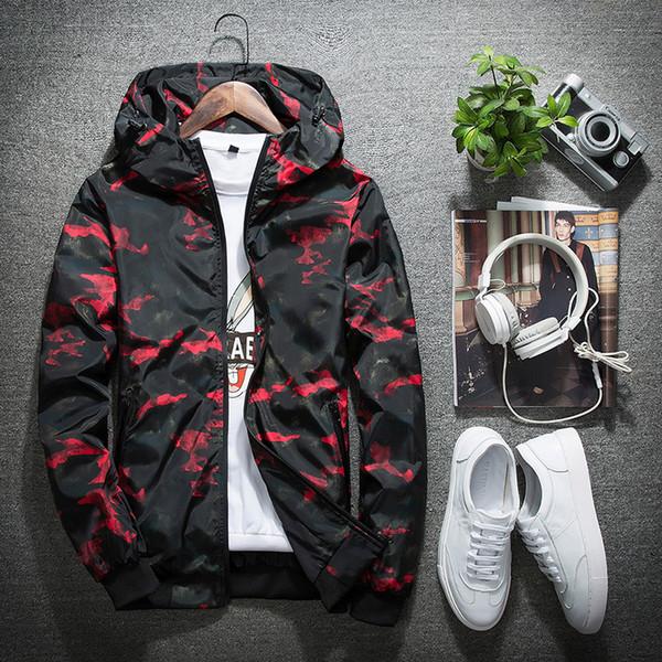 Мужчины и женщины модели большой размер спортивная пара тонкий раздел ветровка весна и осень открытый камуфляж куртка