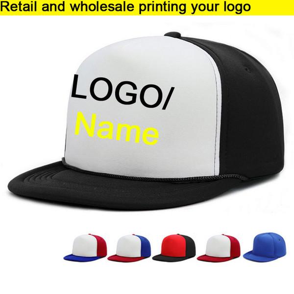 Retail HIPHOP Adult Baseball Hat Cobra cap/BBoy Caps Flat brim Vinyl Printing Cap Hip Hops Snapbacks For Men Women Custom LOGO