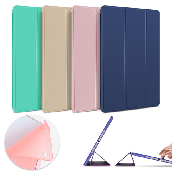 Magnetic Slim Leather Smart Case Flip Folding Folio Stand Cover Shockproof Soft TPU Cases For iPad Pro 9.7 2018 Mini Air 5 6