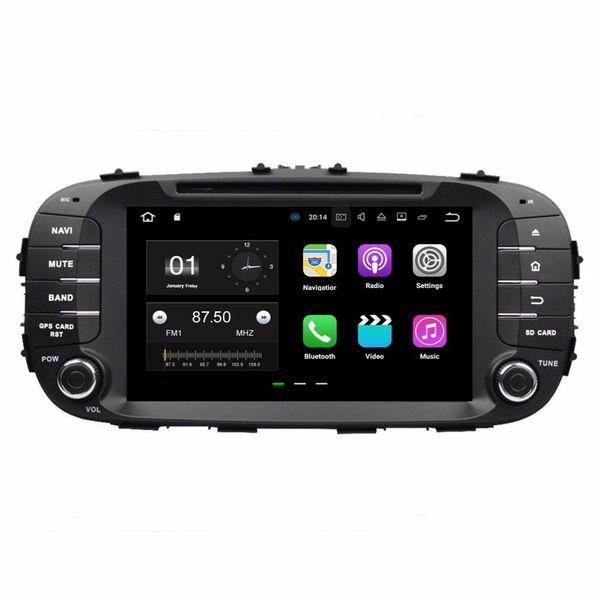 1024 * 600 Android 7.1 Quad Core Radio de coche DVD Reproductor multimedia GPS Coche DVD para Kia Soul 2014 2015 2016 con Bluetooth WIFI Espejo enlace
