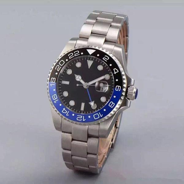 Montre de luxe pour homme GMT lunette en céramique 40mm 116710LN 116710blnr 116710 ETA 2813 Mouvement Montre Homme automatique