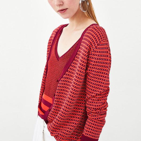 2018 Fashion Women Sweater Cardigan Casual Knitted Tops Sweater Long Sleeve Autumn Winter Cardigan
