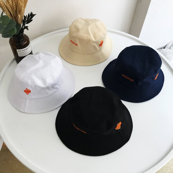 2018 hat sale high quality summer Bucket Hat Solid letter couple Casual Cotton fashion popular Sun Protection