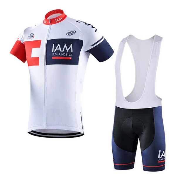 2018 men IAM Cycling Jersey Set 100% Polyester Ropa Ciclismo MTB Bike Clothing Short Sleeve Breathable racing bicycle Sportswear F2714