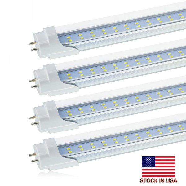 Stock en US + Dual-End Powered T8 Led Tubes Light 22W 28W Bi-Pin T8 Led Tubes Blubs Lámpara Reemplace el tubo regular AC 110-240V