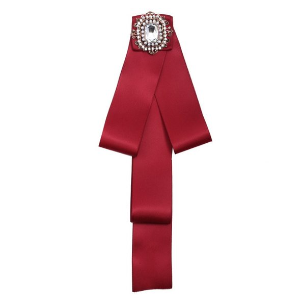2018 New lady Round Buckle Bowknot Scarf Brooches Pins Hot Sale Trendy Bohemian Cloth Clip Women New Fashion Tie Bow Brooches