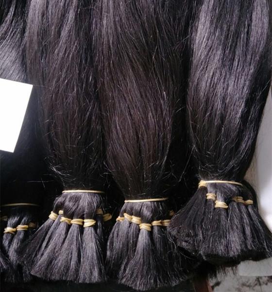 100% Lotes de crudo del pelo humano del pelo indio templo Brading cabello natural color Dyeable 12-28 pulgadas