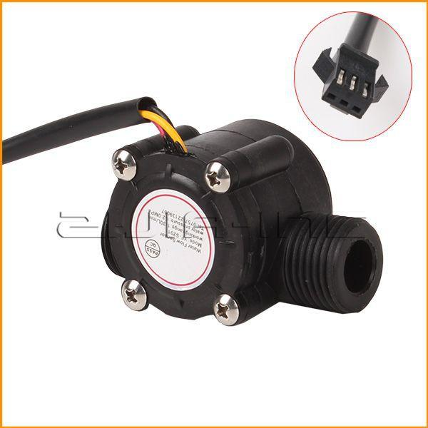 "G1/2"" 1-30L/min Pipeline Water Flow Sensor Switch Hall Effect Sensor Flow Meter"