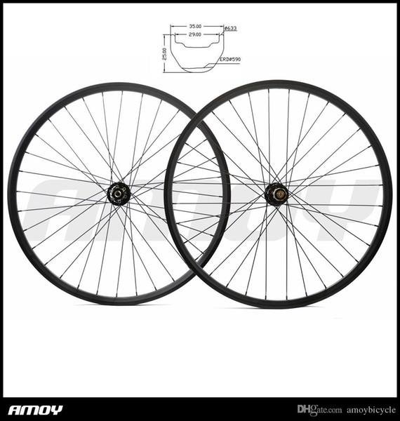 29er MTB AM ENDURO all mountain bike 35mm width hookless carbon wheelset UD 3K 12K 28 holes 711 712 29in wheels
