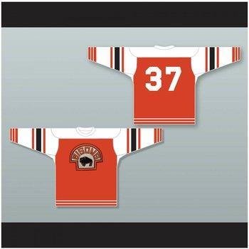 Custom XS-5XL Buffalo Bisons 37 Hockey naranja Jersey Stitch Sewn Cualquier jugador o número Envío gratis