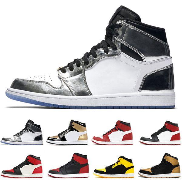1 top 3 Banned Bred Toe Chicago OG 1s jeu Royal Blue mens chaussures de basket-ball sneakers Shattered Backboard hommes sport designer formateurs US8-13