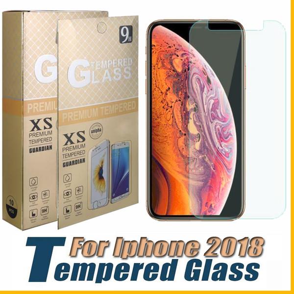 Для iPhone X XR XS Max Протектор экрана из закаленного стекла Для iPhone 8 Plus LG Q7plus Alcatel 7 J3 2018 0