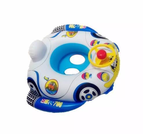 Flotteur gonflable de piscine d'impression de dessin animé de flotteur de natation de bébé avec le volant âge approprié pendant 1 mois - 3 ans pour la piscine