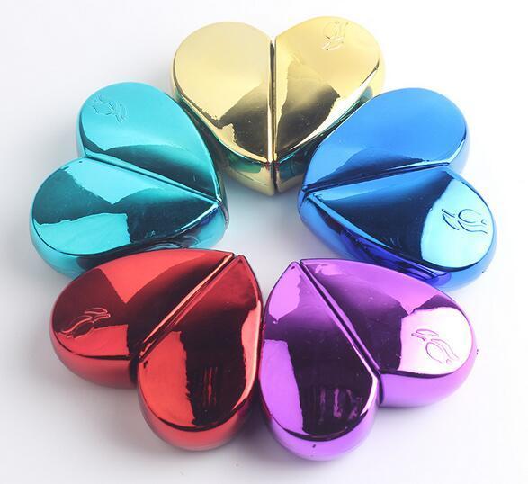 Caliente 7.0 cm * 6.0 cm CCB Plástico / Vidrio En Forma de Corazón Botella de Perfume Recargable Vacío 25 ml Viaje Mini Atomizador Bomba de Aerosol