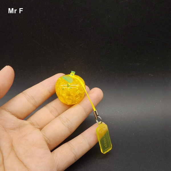 Finished Special Kids Toys For Children 3D Crystal Puzzle Apple Christmas Gift Plastic Small Model Toy