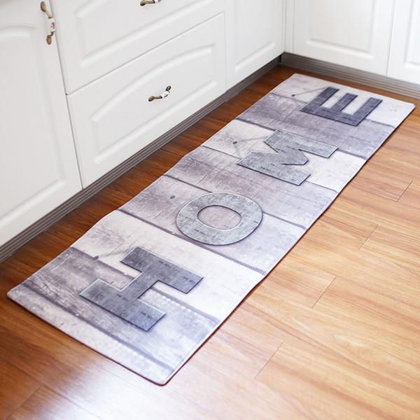 Home Retro Wood Wolrd Map Long Floor Mats Anti-Slip Sofa Carpets for Living Room Bathroom Bath Mat Kitchen Rugs Bedside Foot Pad Tapete