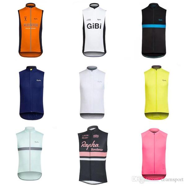 RAPHA equipe Ciclismo Sem Mangas jersey Vest 100% Poliéster Top Quality Verão Homme colete Boa qualidade e baixo preço 840702