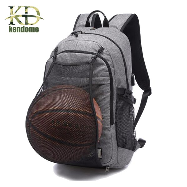 afd5b0655b Outdoor Men s Sports Gym Bags Basketball Backpack School Bags For Teenager  Boys Soccer Ball Pack Laptop Bag Football Net Gym Bag