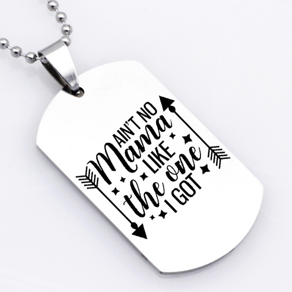 2018 Unique Square Letter Necklace Keychain Ain't No Mama Like The One I Got Women Jewelry Mother's Day Gift YP6115