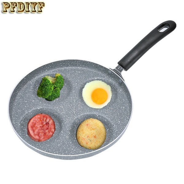 Pfdiyf 24 Cm Kahvaltı Kızartma Tavası Non-Stick 4'lü 1 Kızartma Tavası Yağsız - Kızarmış Yumurta Ve Domuz Pastırması İçin Leke Yok Gaz Ocak