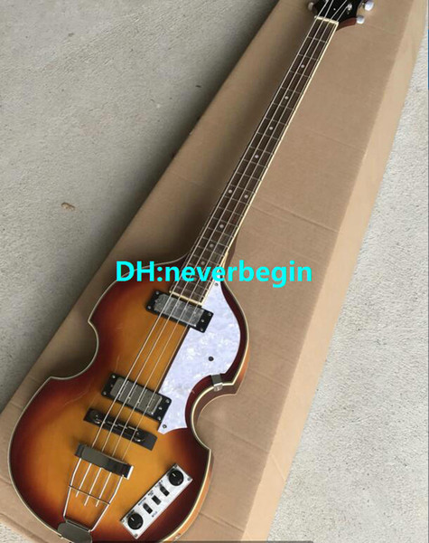 Contemporary Violin Deluxe Bass Vintage Sunburst Electric Guitar Flame Maple Top