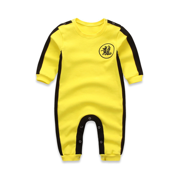 top popular Chinese Dragon Children's Jumpsuit Boys and girls'clothes Athletic Wear Costume Jumpsuit Bruce Lee Classic Kung Fu Uniforms Cosplay JKD 2020