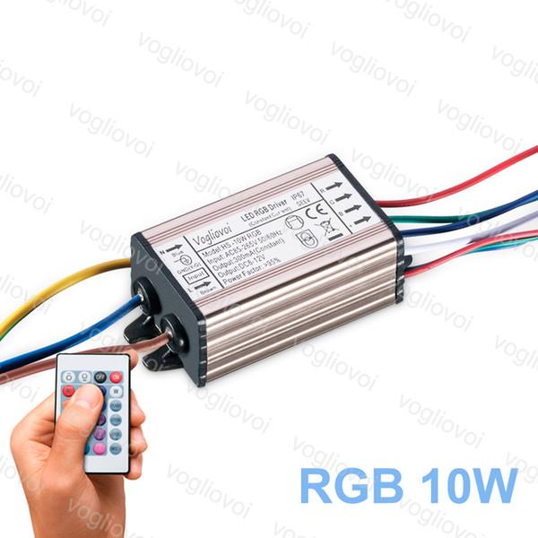 Para AC110V Power Transformador Full De LED Adaptador A Agua Aluminio De Prueba AC220V De RGB Controlador 300MA Lámpara LED Compre Inundación De 10W rsthCQd