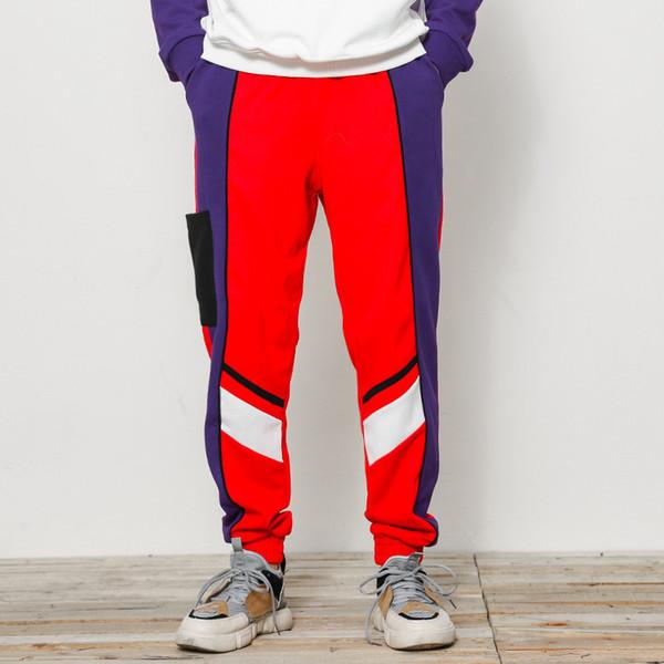 H. a.Sueno 2018 toptan yeni moda mens parça pantolon gevşek fit Sweatpants popüler boy Parkour erkekler pantolon 5XL / 6