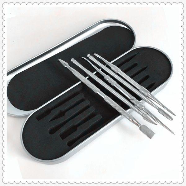 106-121mm tool kit Wax dabber tool set Aluminium box packaging vax atomizer titanium nail dabber tool For dry herb vaporizer pen