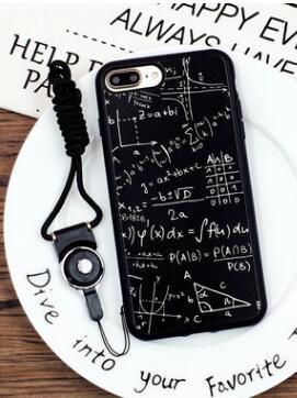 Xue Ba fórmula geométrica matemática iPhoneXX teléfono móvil shell AppleX10 funda de silicona 8plus soft shell amantes espejo
