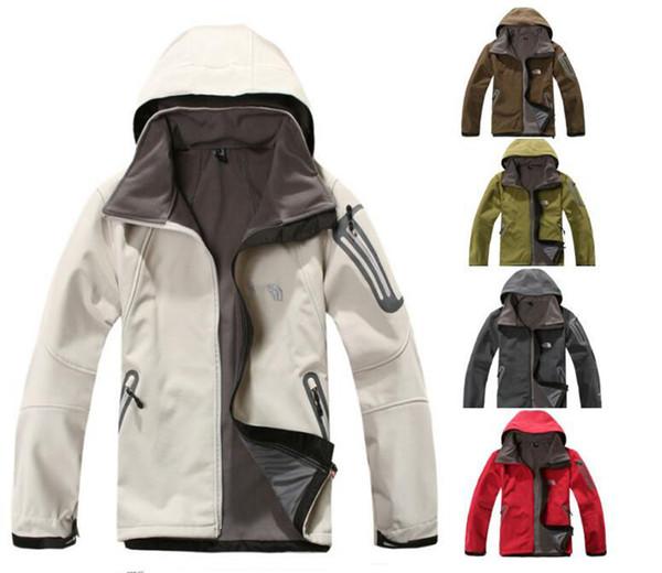 best selling 2018 Autumn Winter Men's Jacket the North Men Luxury Designer Windbraker Waterproof Face Hoodie Coat Outdoor Casual Softshell Fleece Jackets