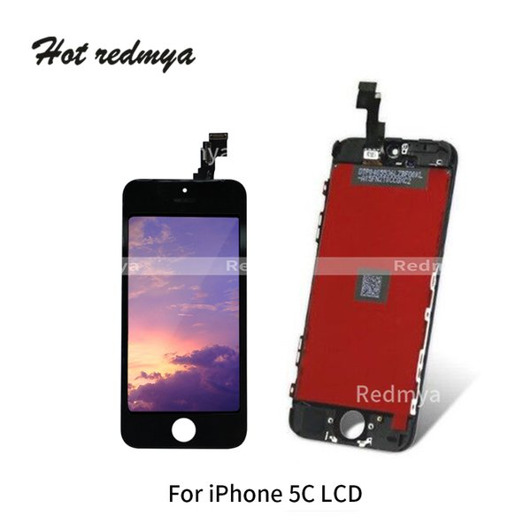 A Quality LCD Replacement For iPhone 5C LCD Display Touch Digitizer Screen with Frame LCD Touch Panel Assembly Parts Free Shipping