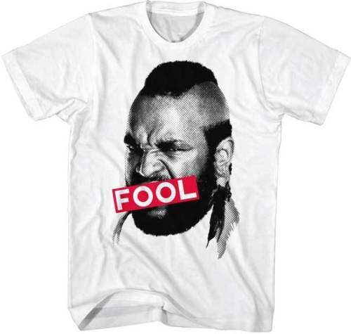 Mr T 1980s TV Show The A Team Censored Fool Adult T Shirt Men's Clothing T-Shirts Tees Men Hot Cheap Short Sleeve Male