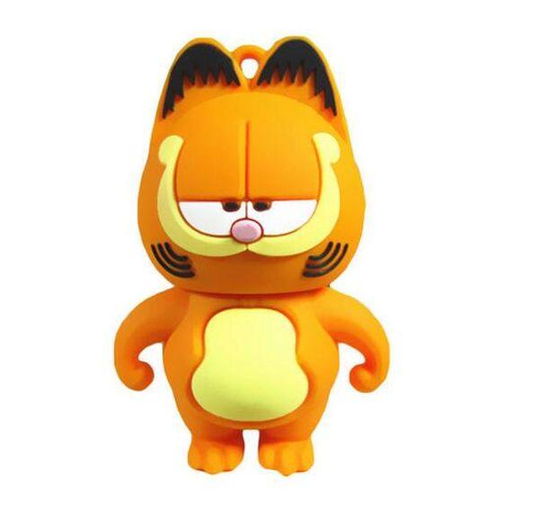lovely Pen Drive Garfield cat 4GB 8GB 16GB 32GB Usb Flash Drive memory stick Pendrive Pendriver mini gift free shipping