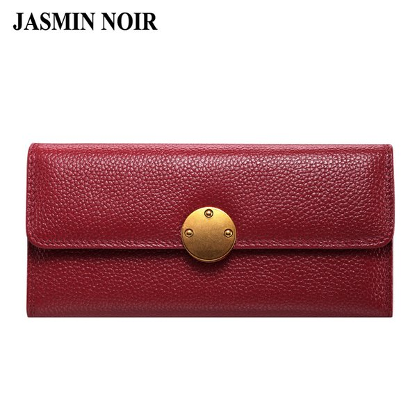 Genuine Leather Wallet Women's 2017 Fashion Summer Purse European and The American Style Ladies Colorful Clutch Quality Handbag