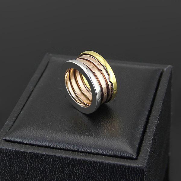 Toda la venta al por mayor de joyería de marca Moda 316L acero de titanio 3 mezcla de anillos de primavera de color para mujeres hombres pareja compromiso boda anillo de amor