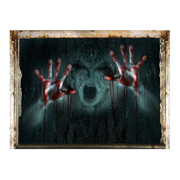 Halloween Decorations 3D Ghost Wall Sticker Removable Haunted House Bar KTV Scary Horror Decal Poster