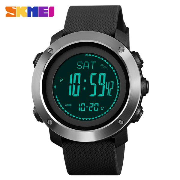 Compass Men Digital Sport Calories Watches Thermometer Weather Forecast LED Watch  Pedometer Compass Mileage Metronome
