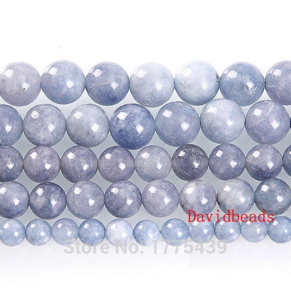 "8mm Natural Stone Angelite Round Loose Beads 16"" Strand 6 8 10MM Pick Size For Jewelry Making"