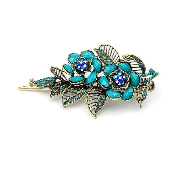 Women Feather New Vintage Rose Hair Clips Hairpins Hair Clip Beauty Tools Jewelry