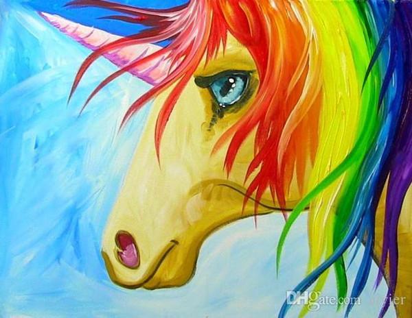 DIY diamond painting full square round 5D diamond embroidery fashion crafts art gift decoration pendant color long hair unicorn
