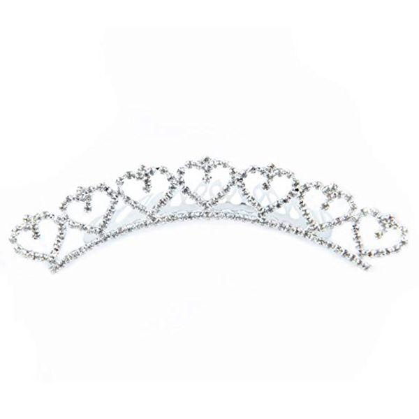 Clearbridal Tiara Pour Bijoux De Mariage En Cristal Strass Perle Peigne À Cheveux 18016